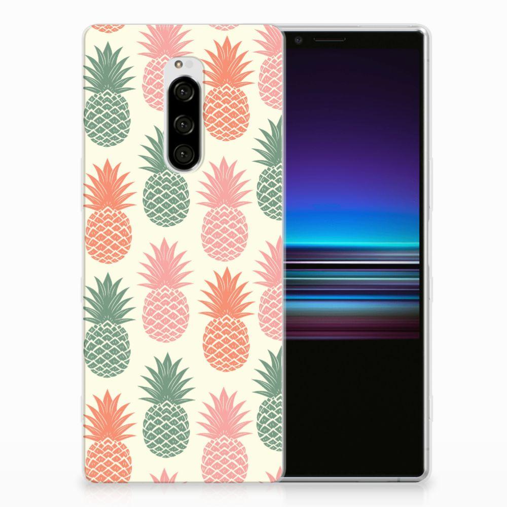 Sony Xperia 1 Siliconen Case Ananas