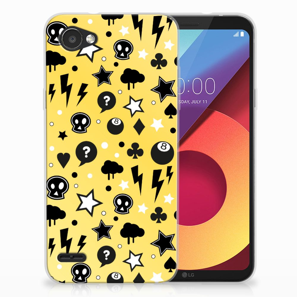 Silicone Back Case LG Q6   LG Q6 Plus Punk Geel