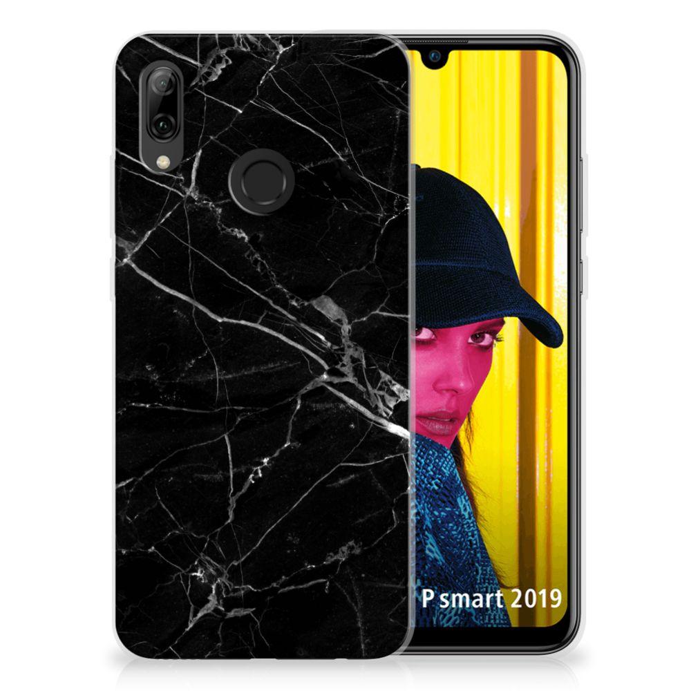 Huawei P Smart 2019 TPU Hoesje Marmer Zwart