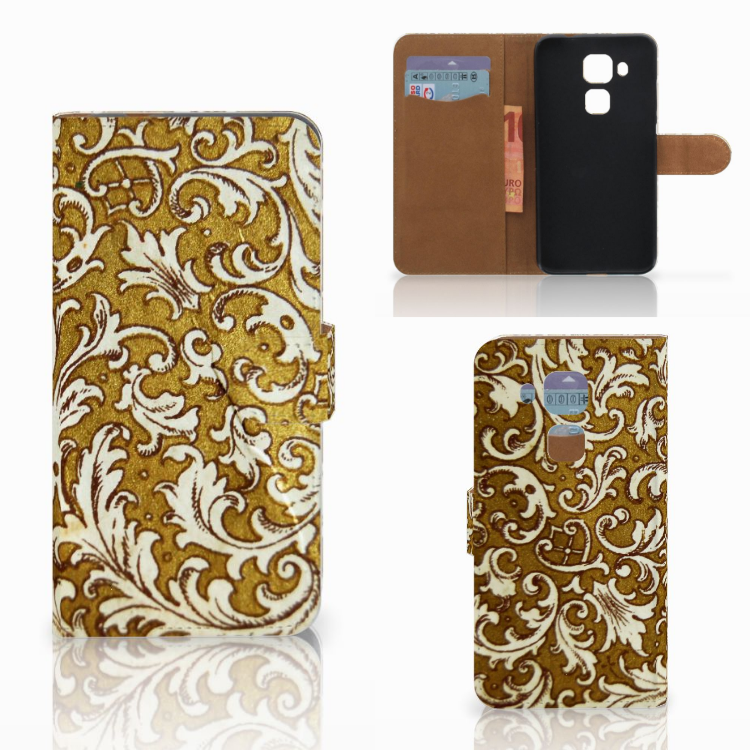 Wallet Case Huawei Nova Plus Barok Goud