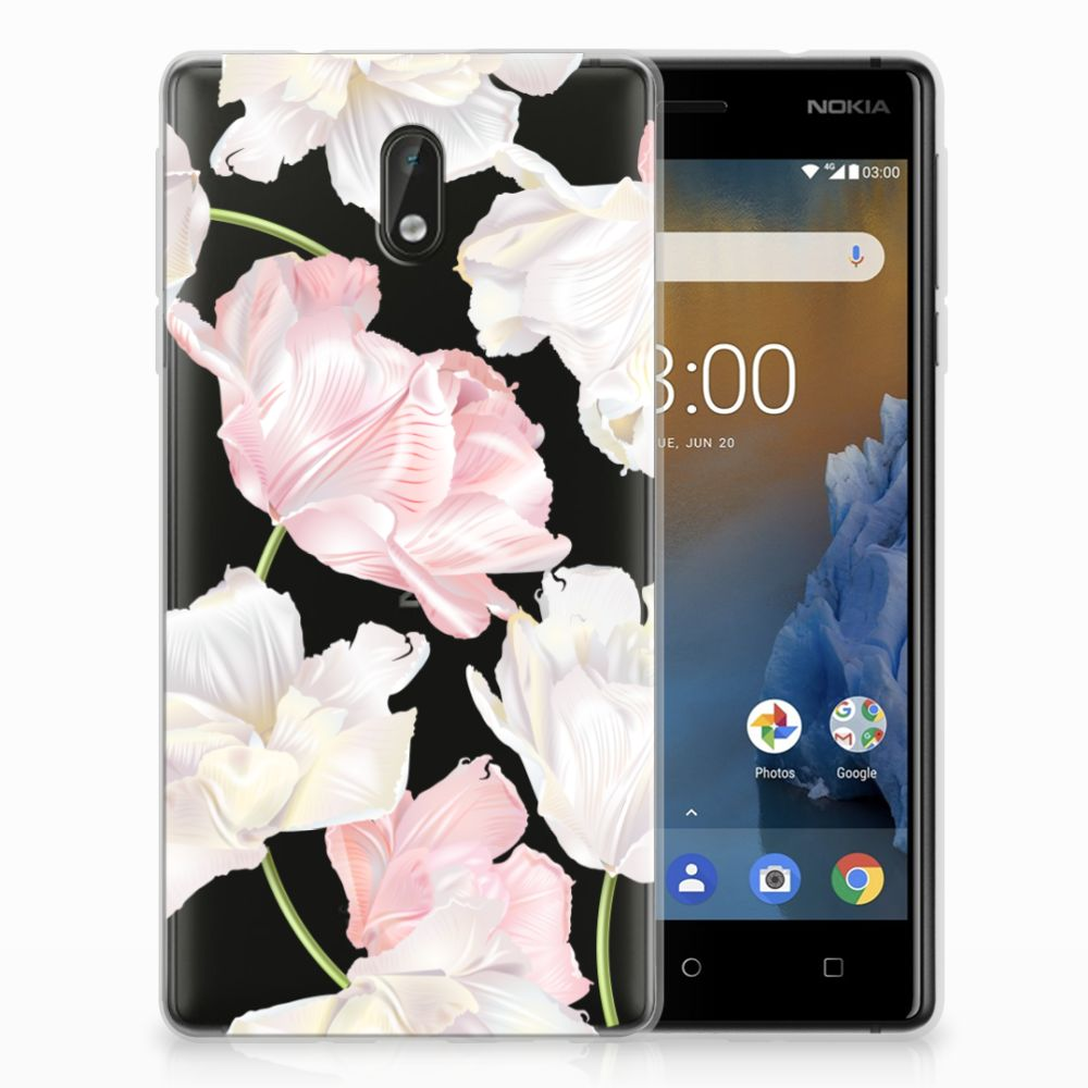 Nokia 3 TPU Hoesje Design Lovely Flowers