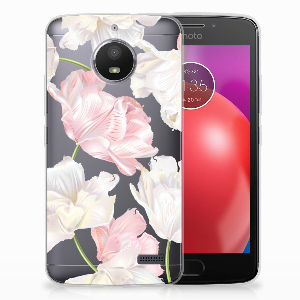 Motorola Moto E4 TPU Hoesje Design Lovely Flowers