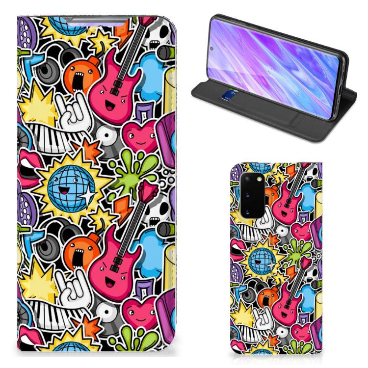 Samsung Galaxy S20 Hippe Standcase Punk Rock