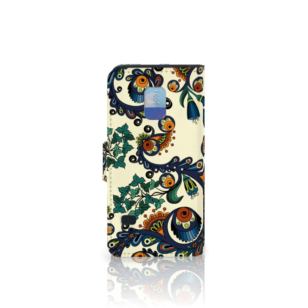 Wallet Case Samsung Galaxy S5 Mini Barok Flower