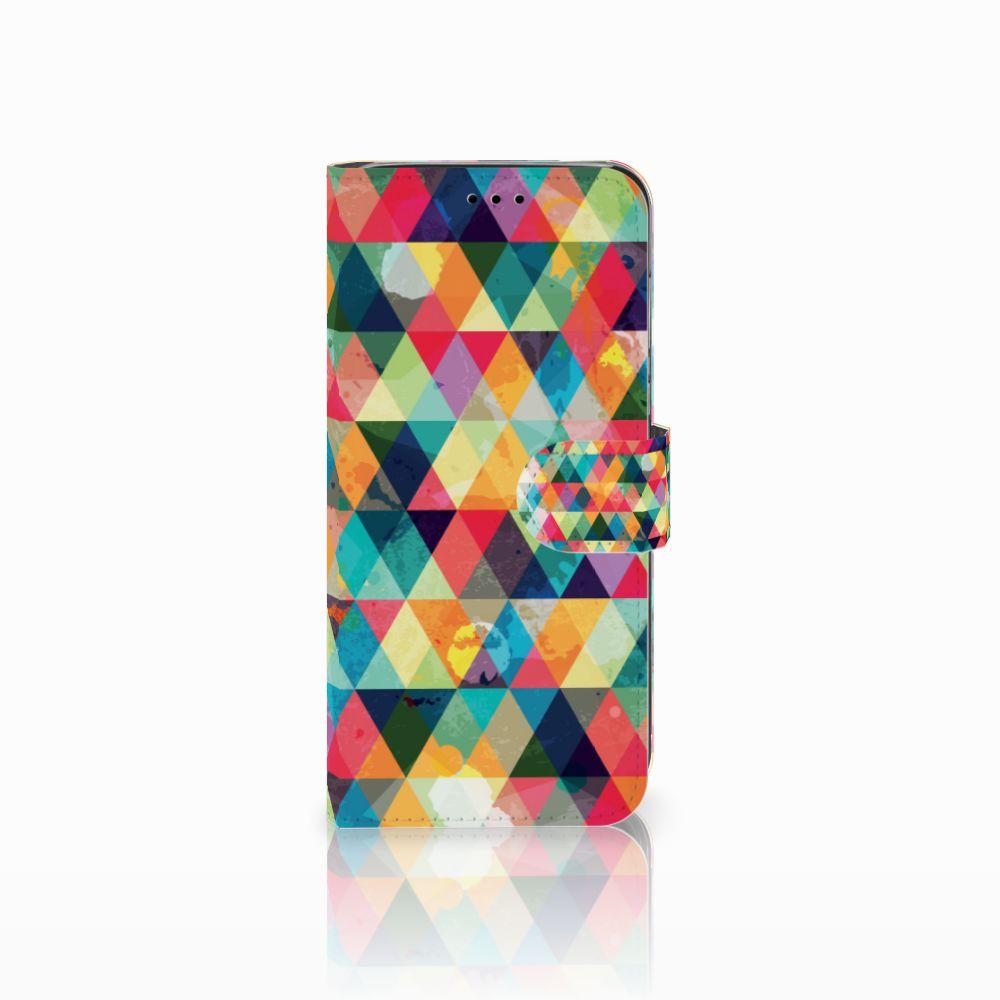 Huawei P20 Lite Uniek Boekhoesje Geruit