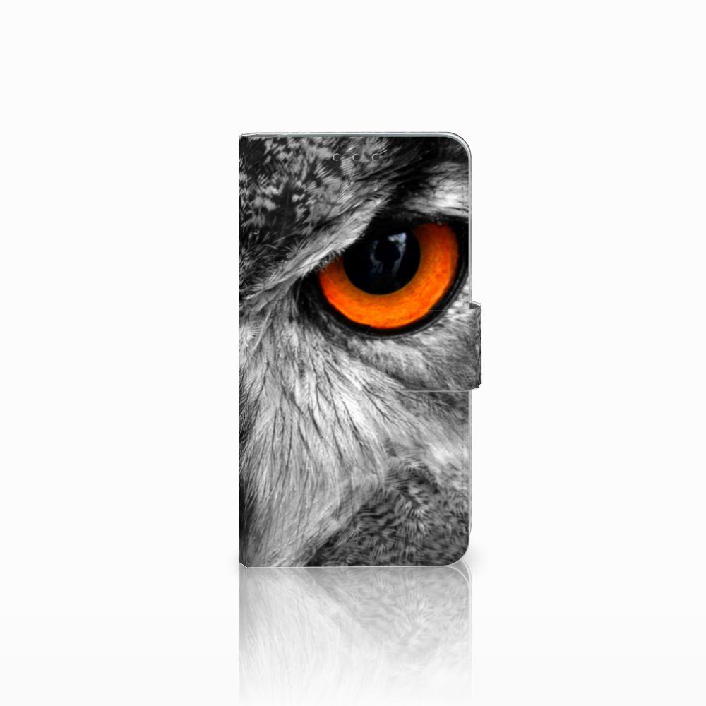 Microsoft Lumia 640 Telefoonhoesje met Pasjes Uil