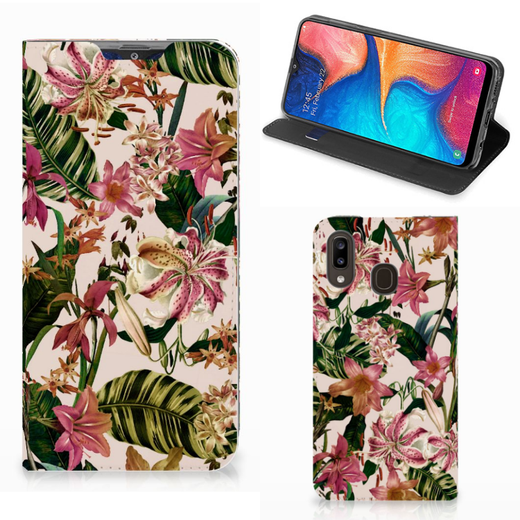 Samsung Galaxy A30 Smart Cover Flowers