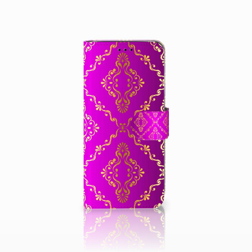 Samsung Galaxy A6 2018 Uniek Boekhoesje Barok Roze