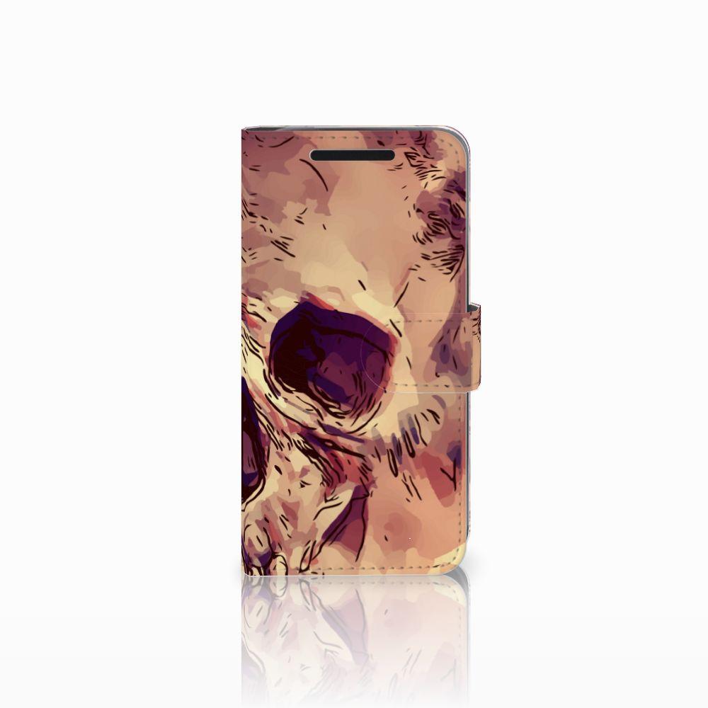 Telefoonhoesje met Naam HTC One M9 Skullhead