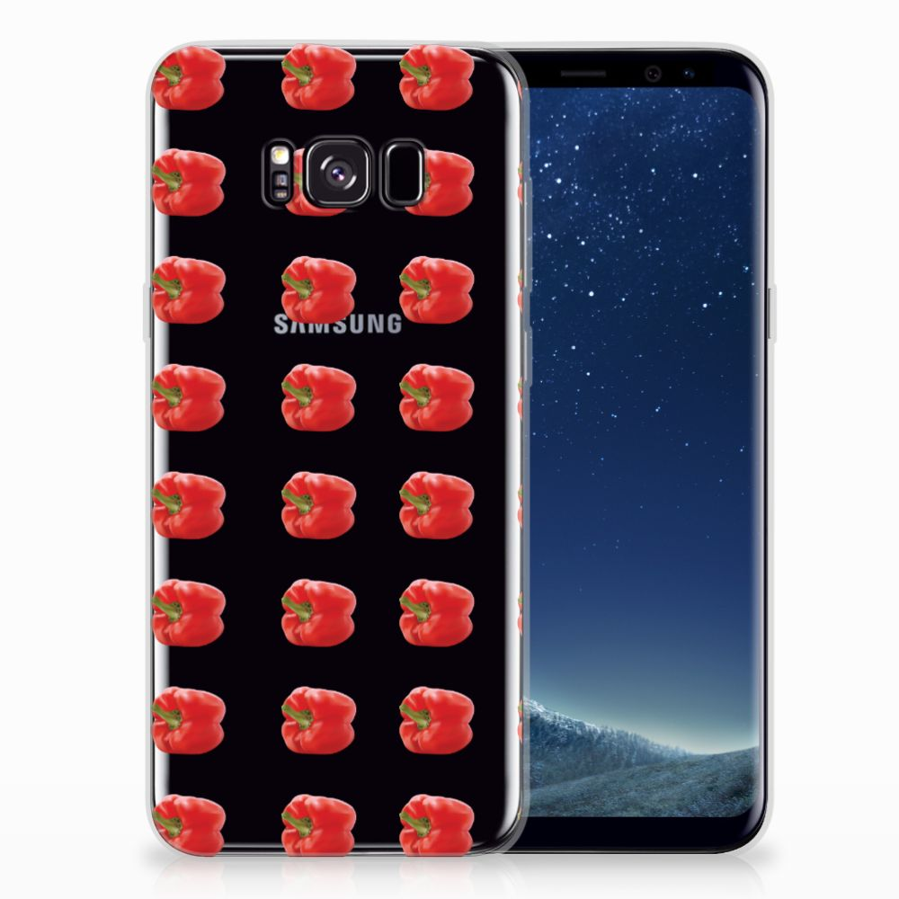 Samsung Galaxy S8 Plus Siliconen Case Paprika Red