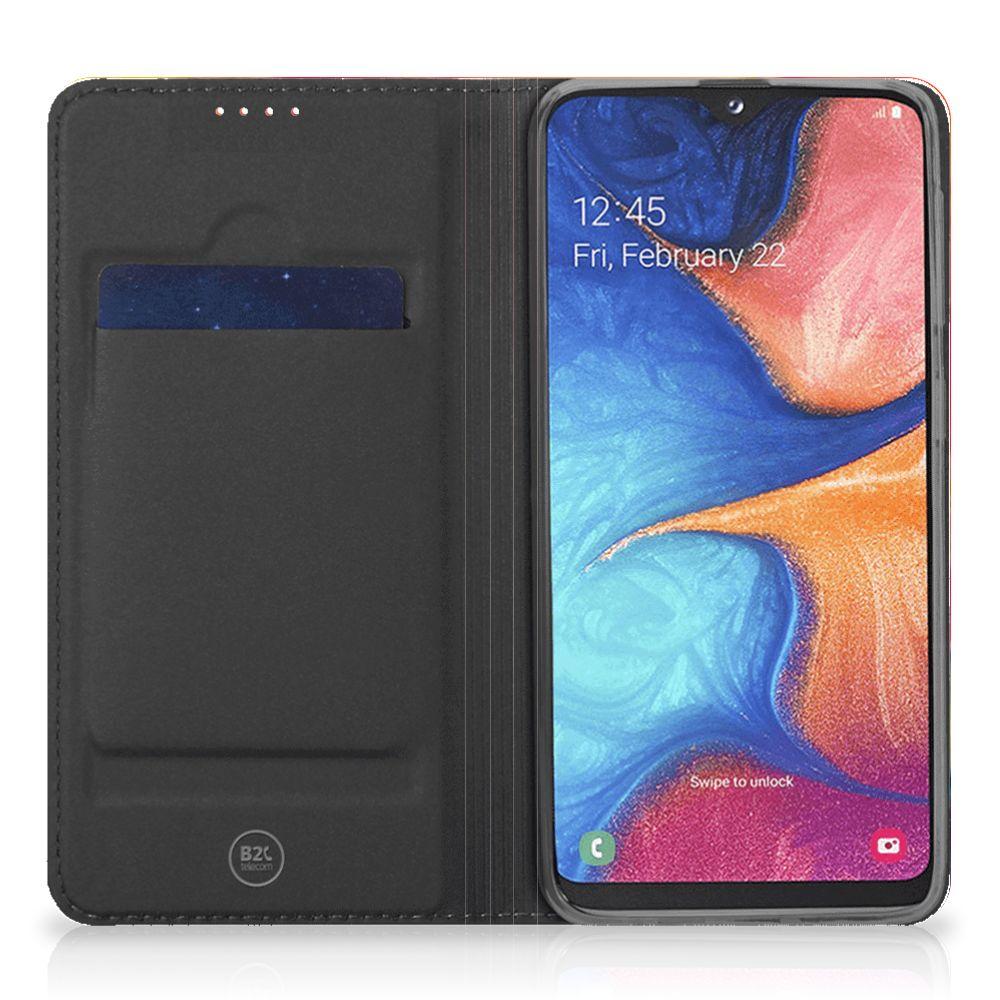 Bookcase Samsung Galaxy A20e Watercolor Dark