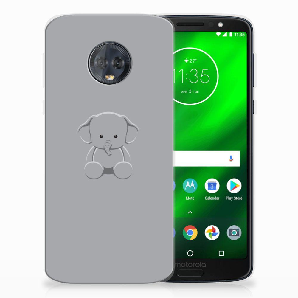 Motorola Moto G6 Plus Uniek TPU Hoesje Baby Olifant