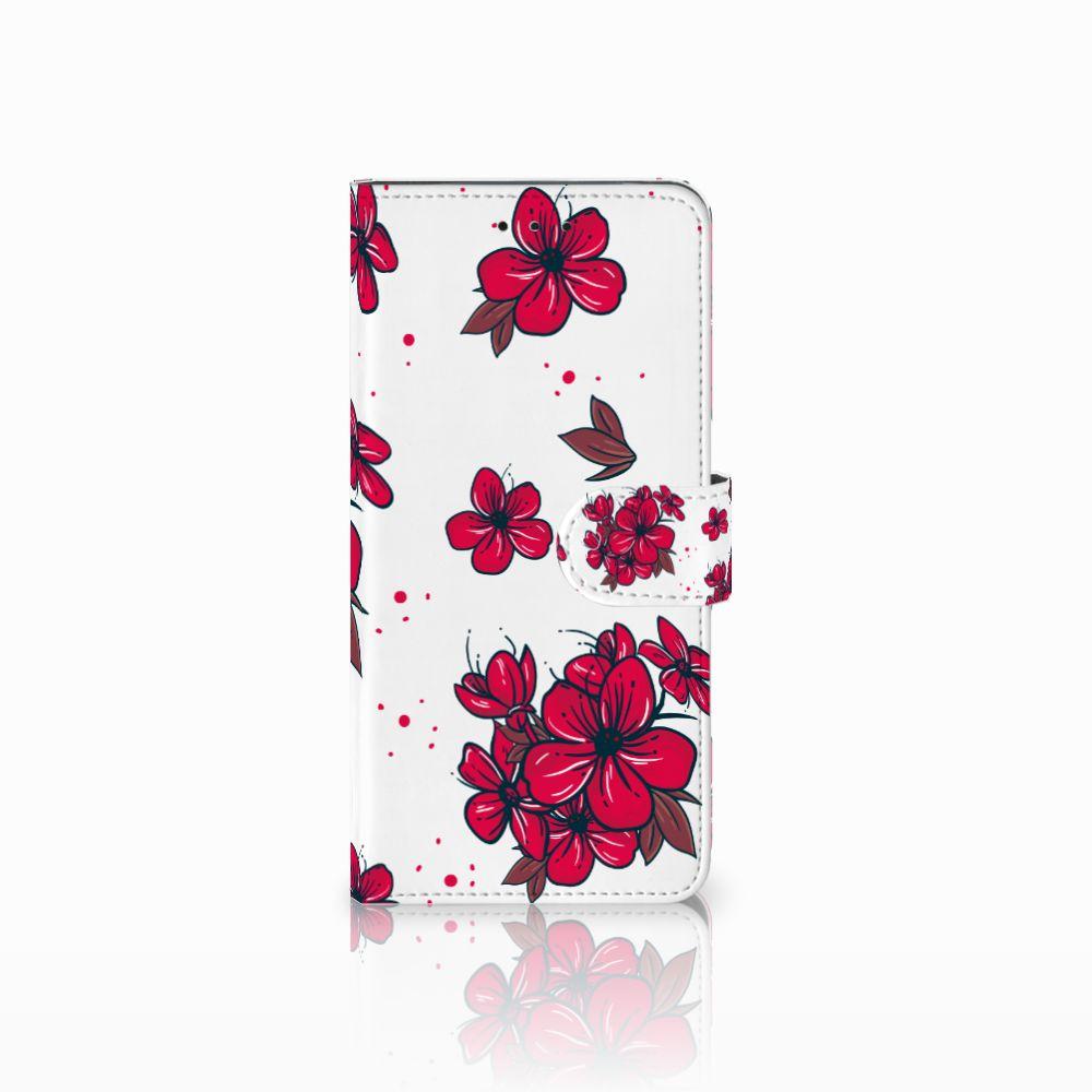 Motorola Moto E5 Plus Boekhoesje Design Blossom Red