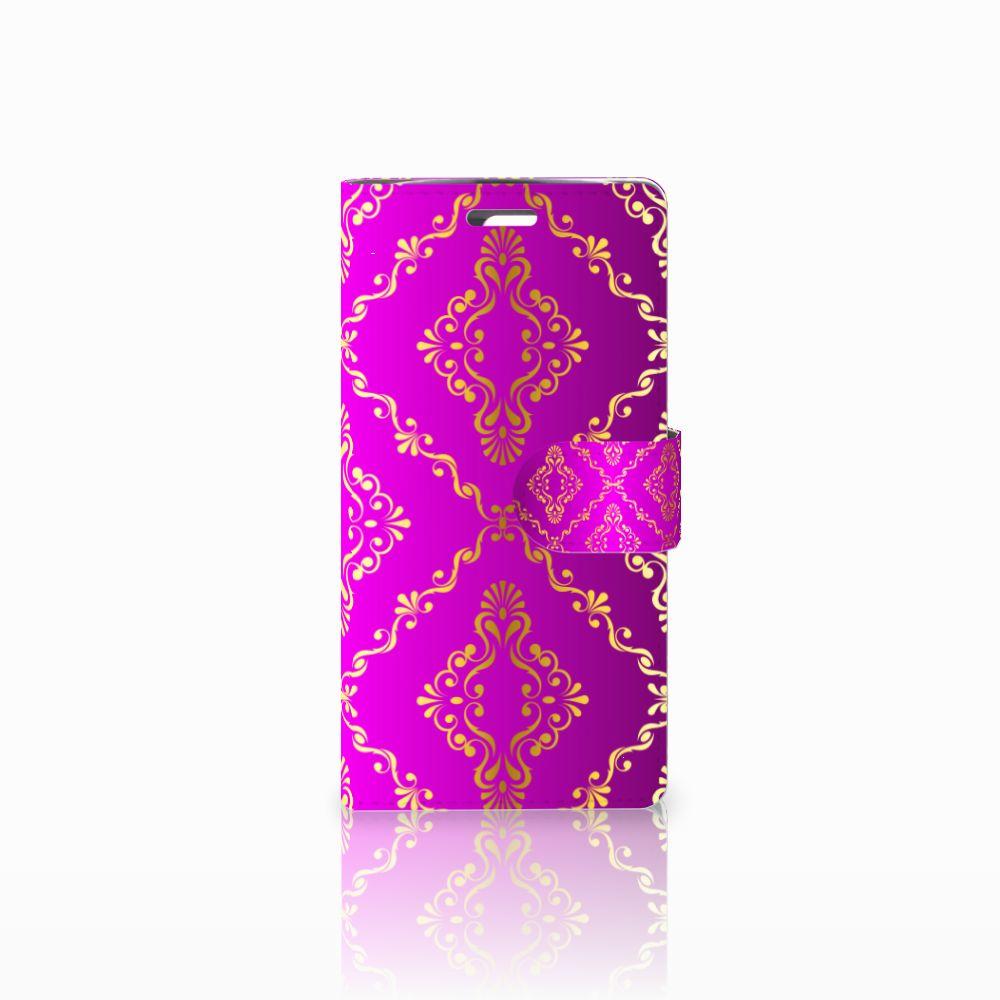 LG K10 2015 Uniek Boekhoesje Barok Roze