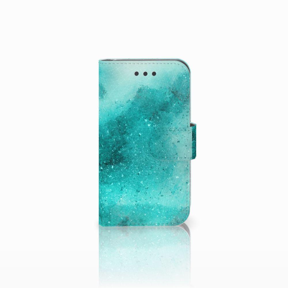Samsung Galaxy Core 2 Uniek Boekhoesje Painting Blue