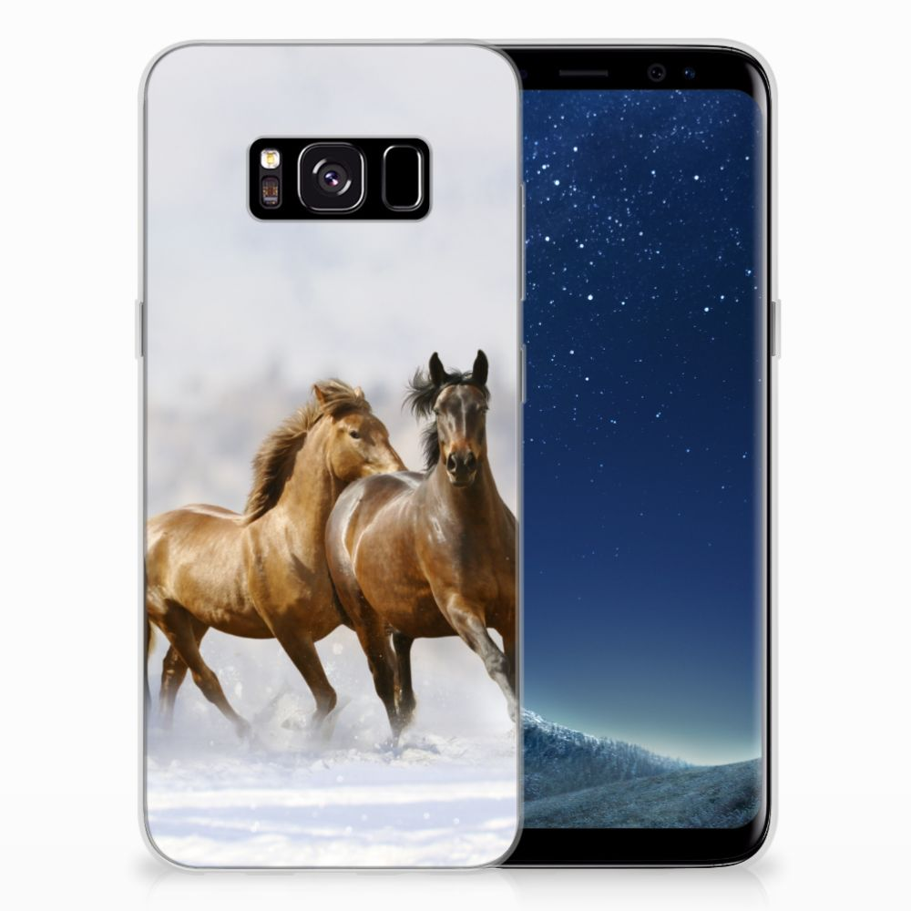 Samsung Galaxy S8 Uniek TPU Hoesje Paarden