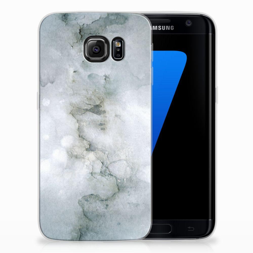 Samsung Galaxy S7 Edge Uniek TPU Hoesje Painting Grey