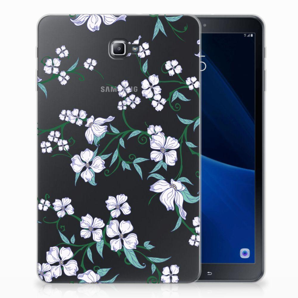 Samsung Galaxy Tab A 10.1 Uniek Tablethoesje Blossom White