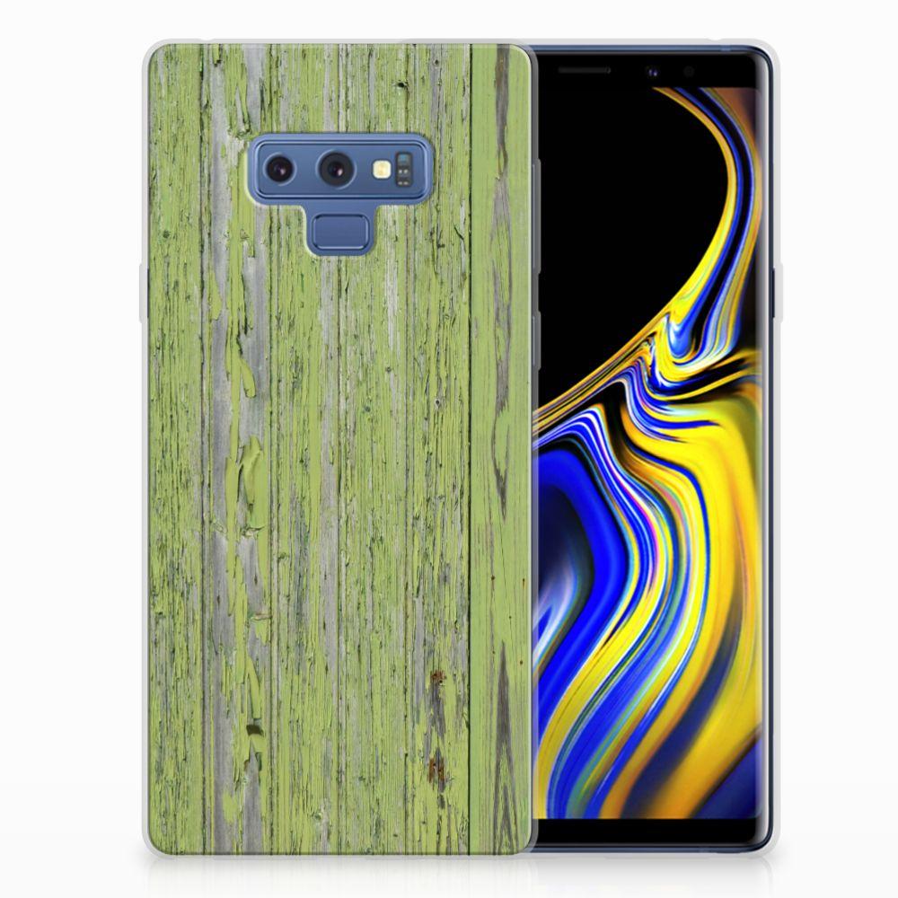Samsung Galaxy Note 9 Bumper Hoesje Green Wood