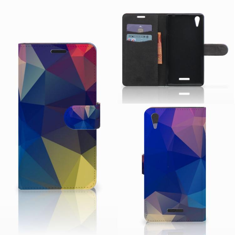 Sony Xperia T3 Bookcase Polygon Dark