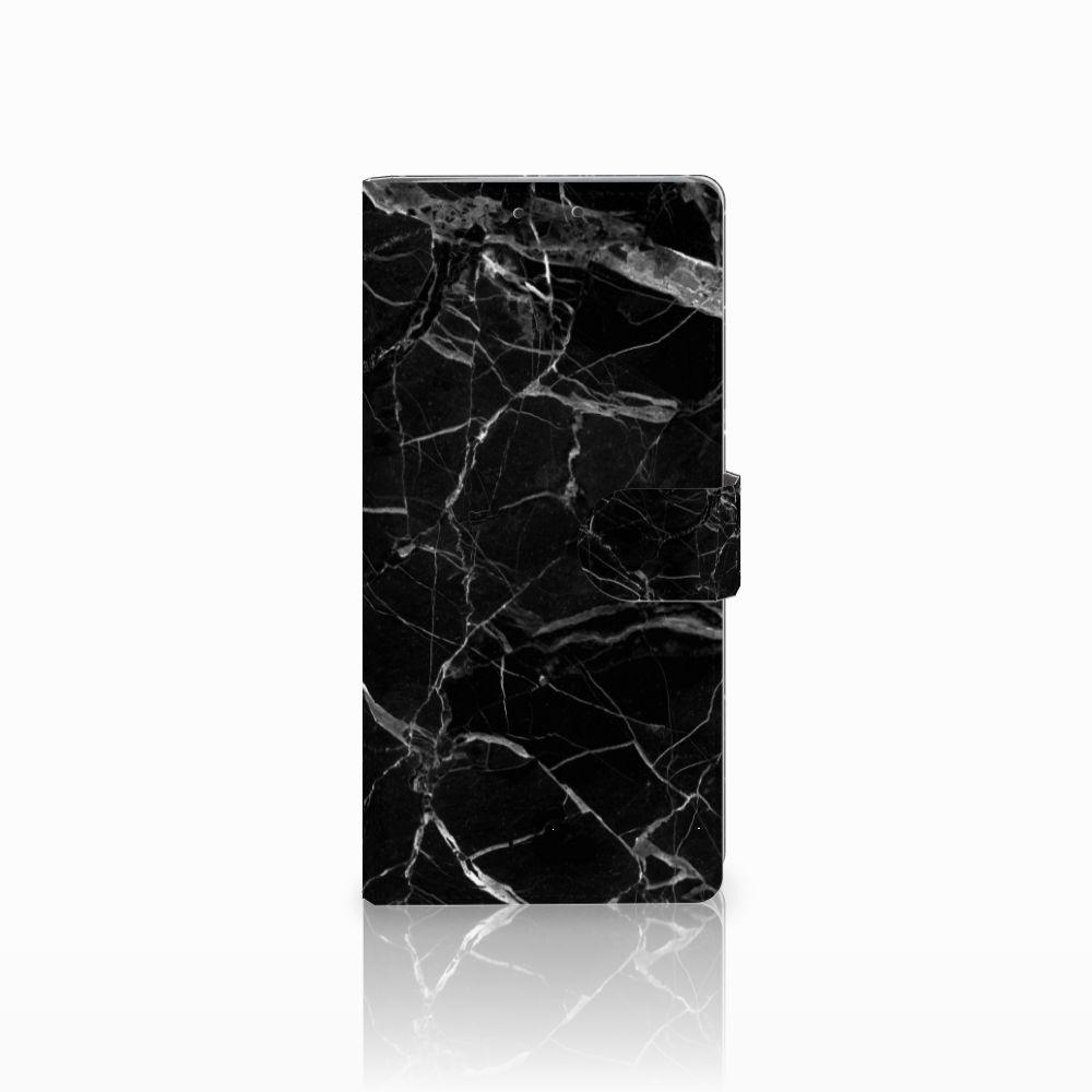 HTC U Ultra Uniek Boekhoesje Marmer Zwart