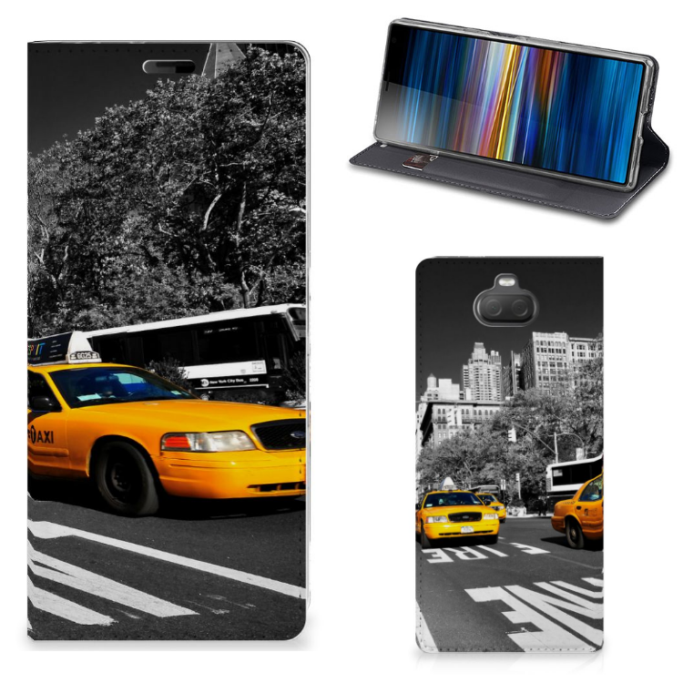 Sony Xperia 10 Plus Book Cover New York Taxi