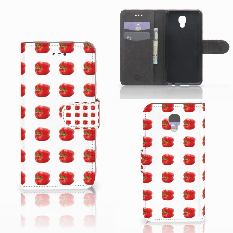 LG X Screen Book Cover Paprika Red