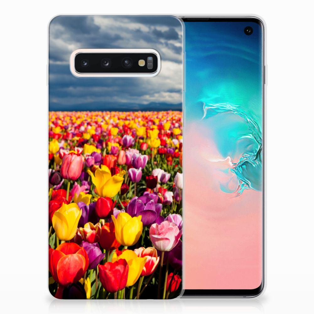Samsung Galaxy S10 Uniek TPU Hoesje Tulpen