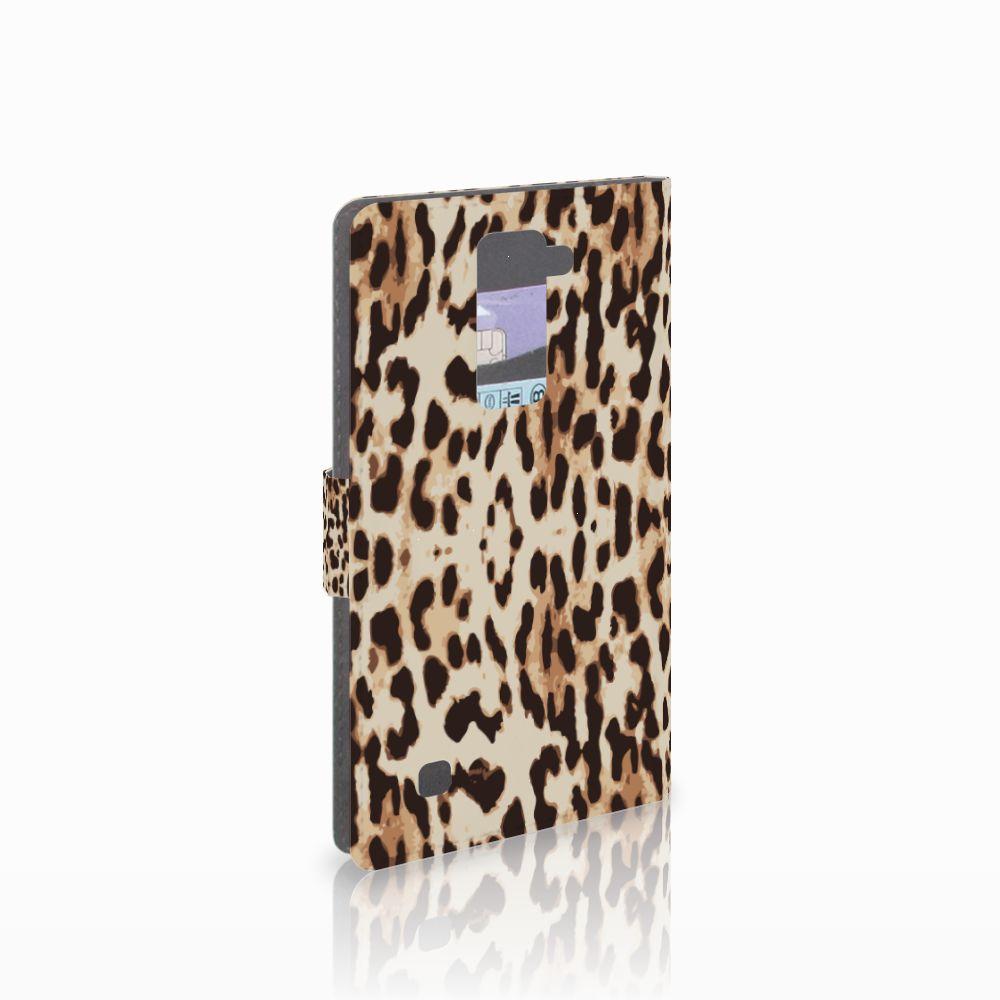 LG K10 2015 Uniek Boekhoesje Leopard