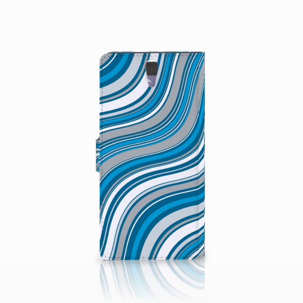 Sony Xperia C5 Ultra Telefoon Hoesje Waves Blue