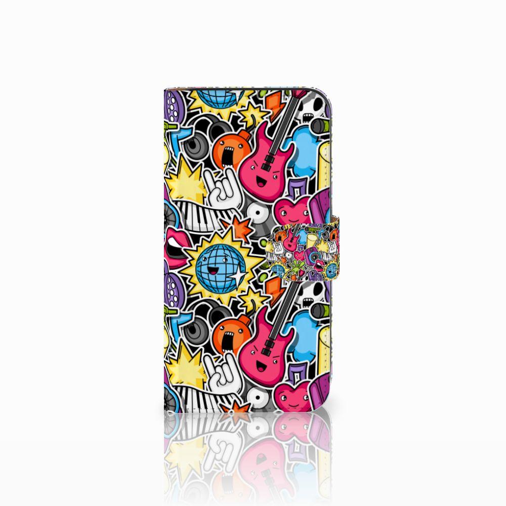 Samsung Galaxy E5 Uniek Boekhoesje Punk Rock