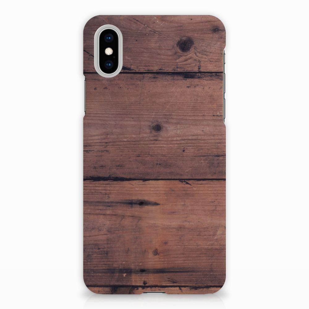 Apple iPhone X | Xs Uniek Hardcase Hoesje Old Wood