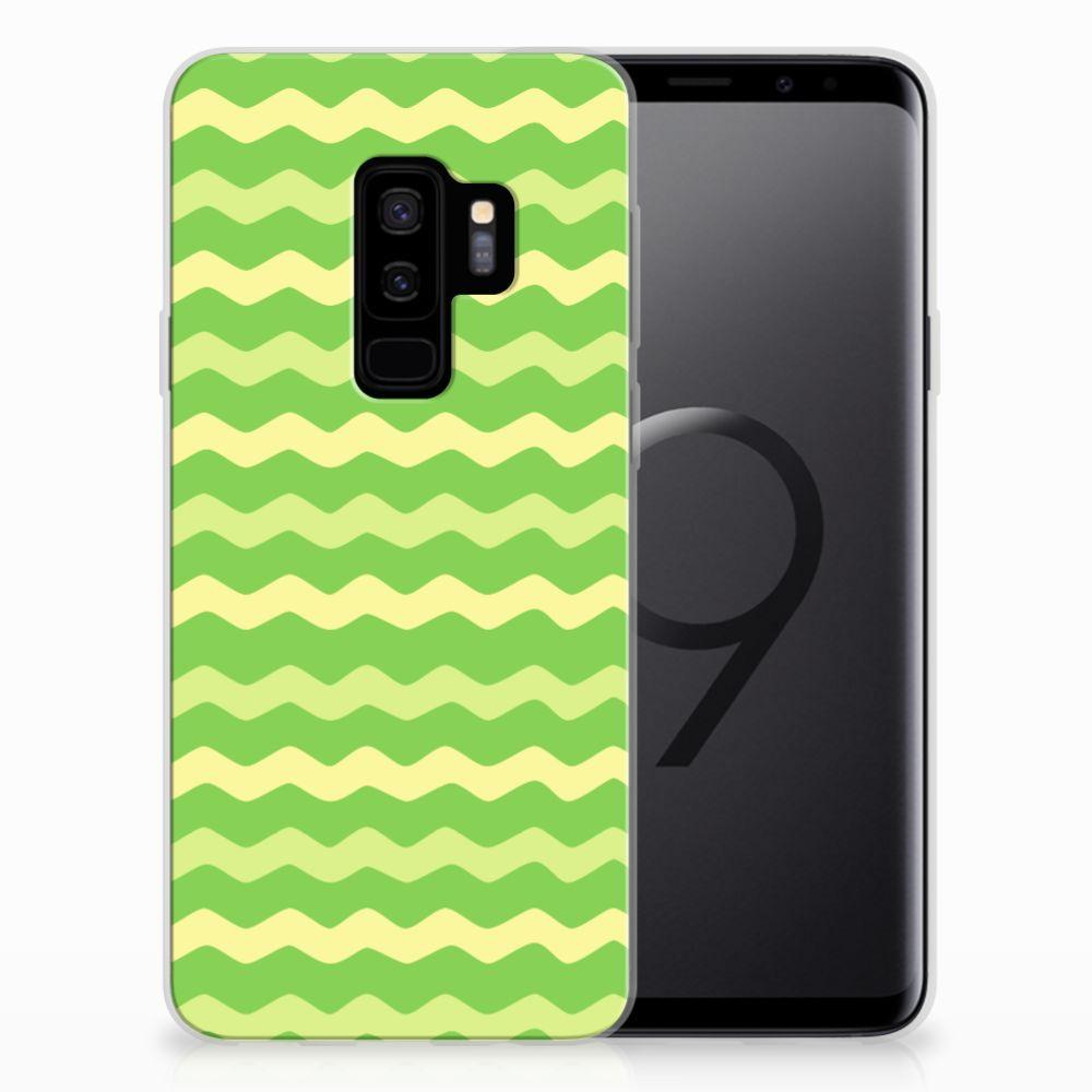 Samsung Galaxy S9 Plus TPU bumper Waves Green