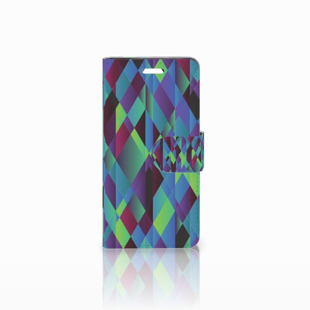 Acer Liquid Z330 Boekhoesje Design Abstract Green Blue
