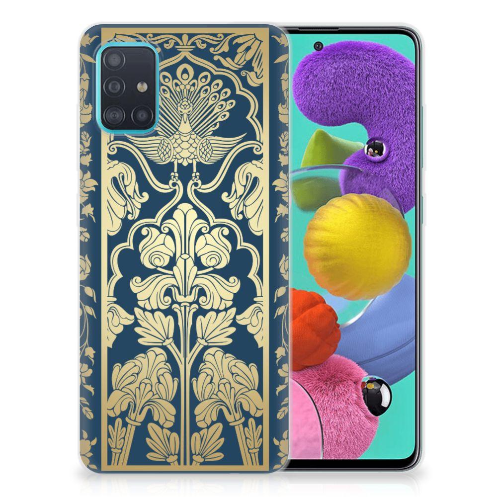 Samsung Galaxy A51 TPU Case Golden Flowers