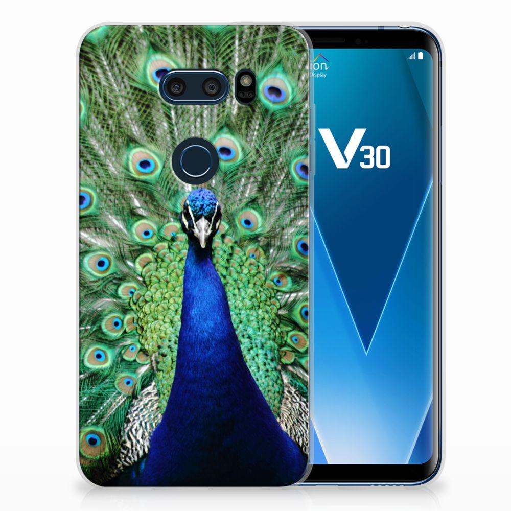 LG V30 TPU Hoesje Pauw