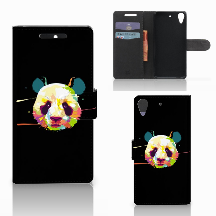 HTC Desire 628 Leuk Hoesje Panda Color