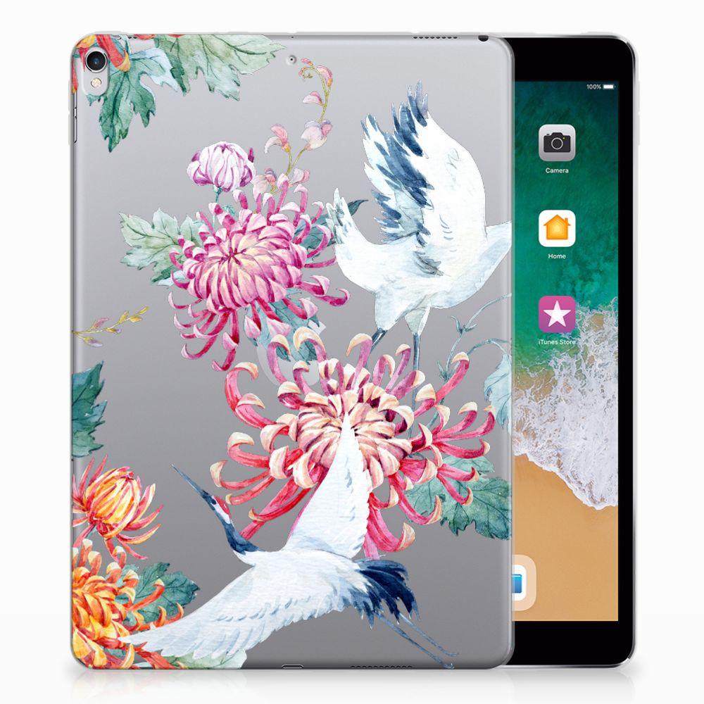 Apple iPad Pro 10.5 Uniek Tablethoesje Bird Flowers