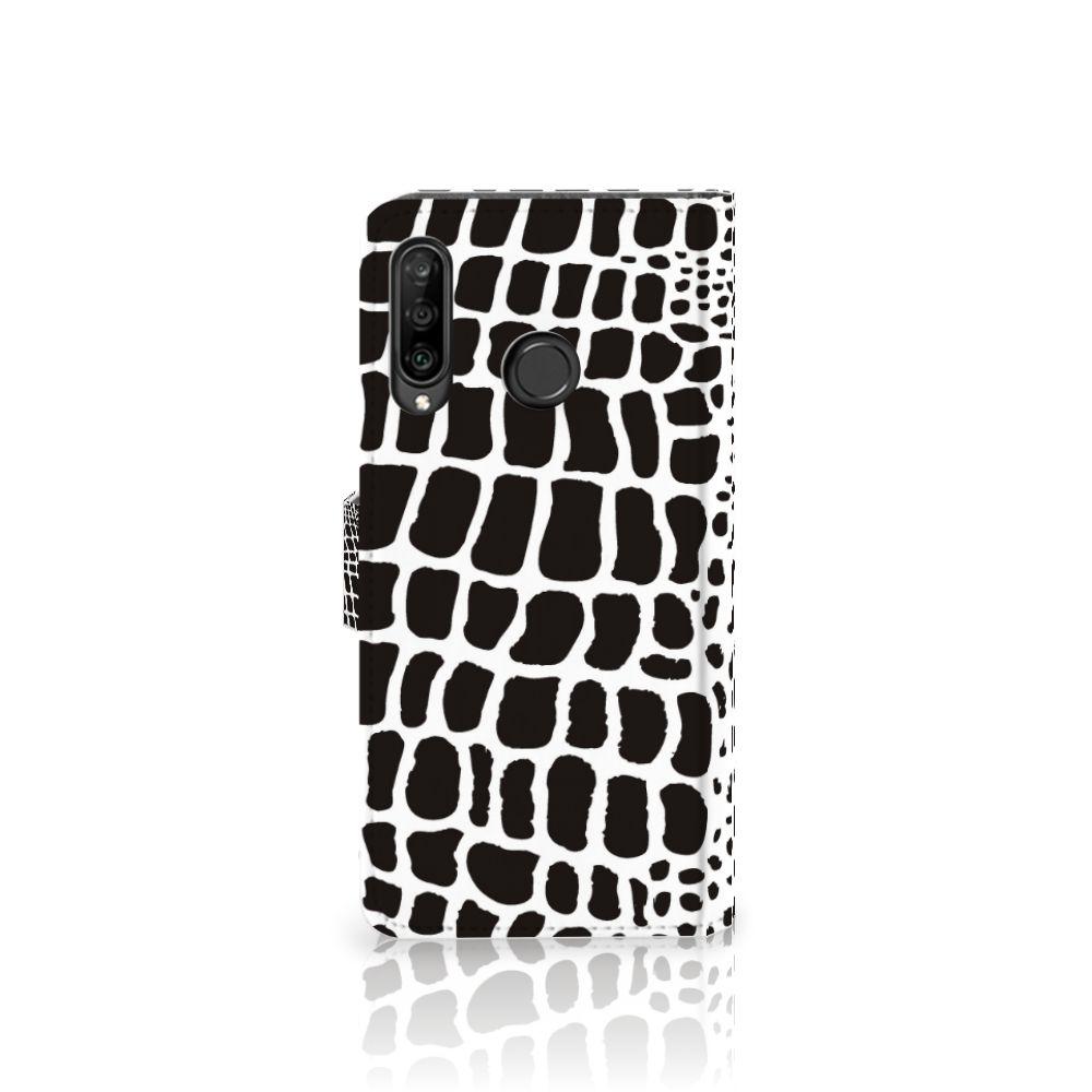 Huawei P30 Lite (2020) Telefoonhoesje met Pasjes Slangenprint