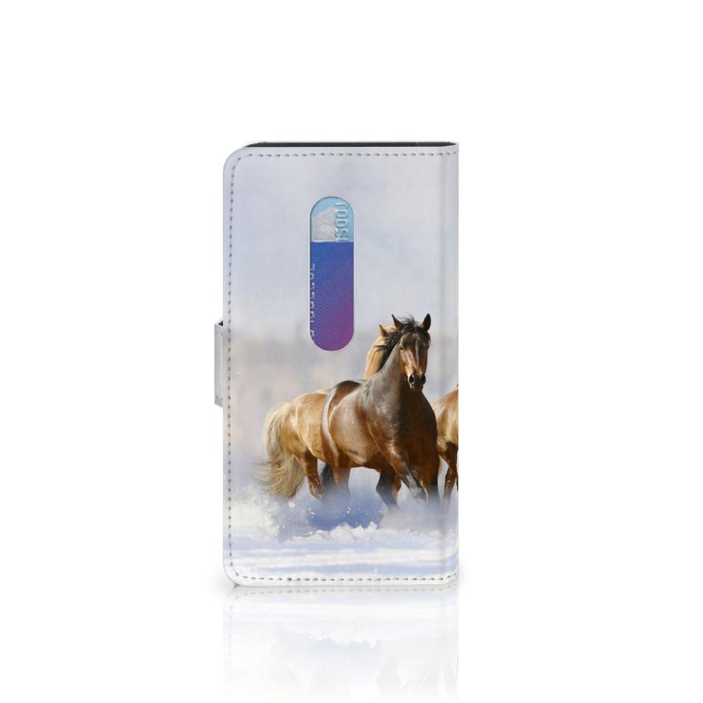 Motorola Moto G 3e Generatie Telefoonhoesje met Pasjes Paarden