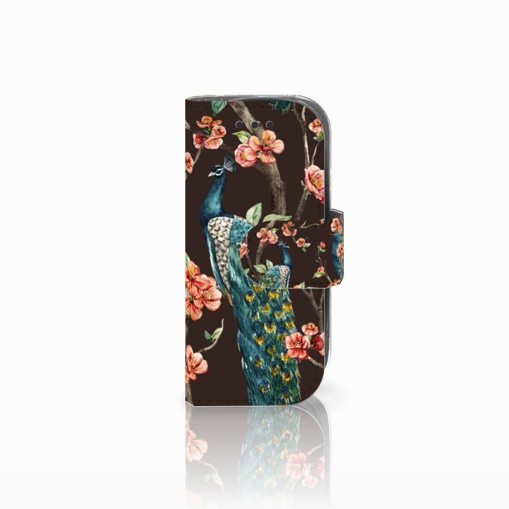 Nokia 3310 (2017) Boekhoesje Design Pauw met Bloemen