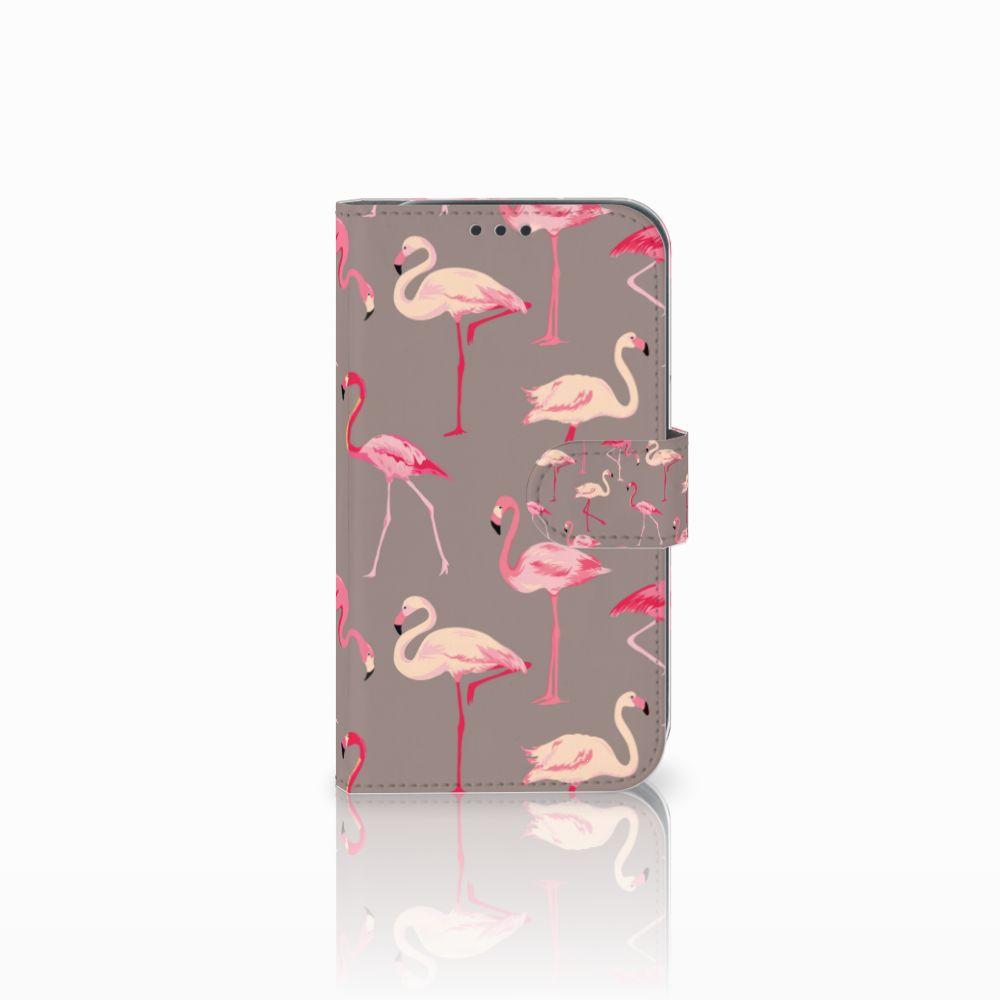 Samsung Galaxy Xcover 4 Uniek Boekhoesje Flamingo