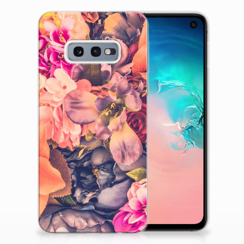 Samsung Galaxy S10e TPU Hoesje Design Bosje Bloemen