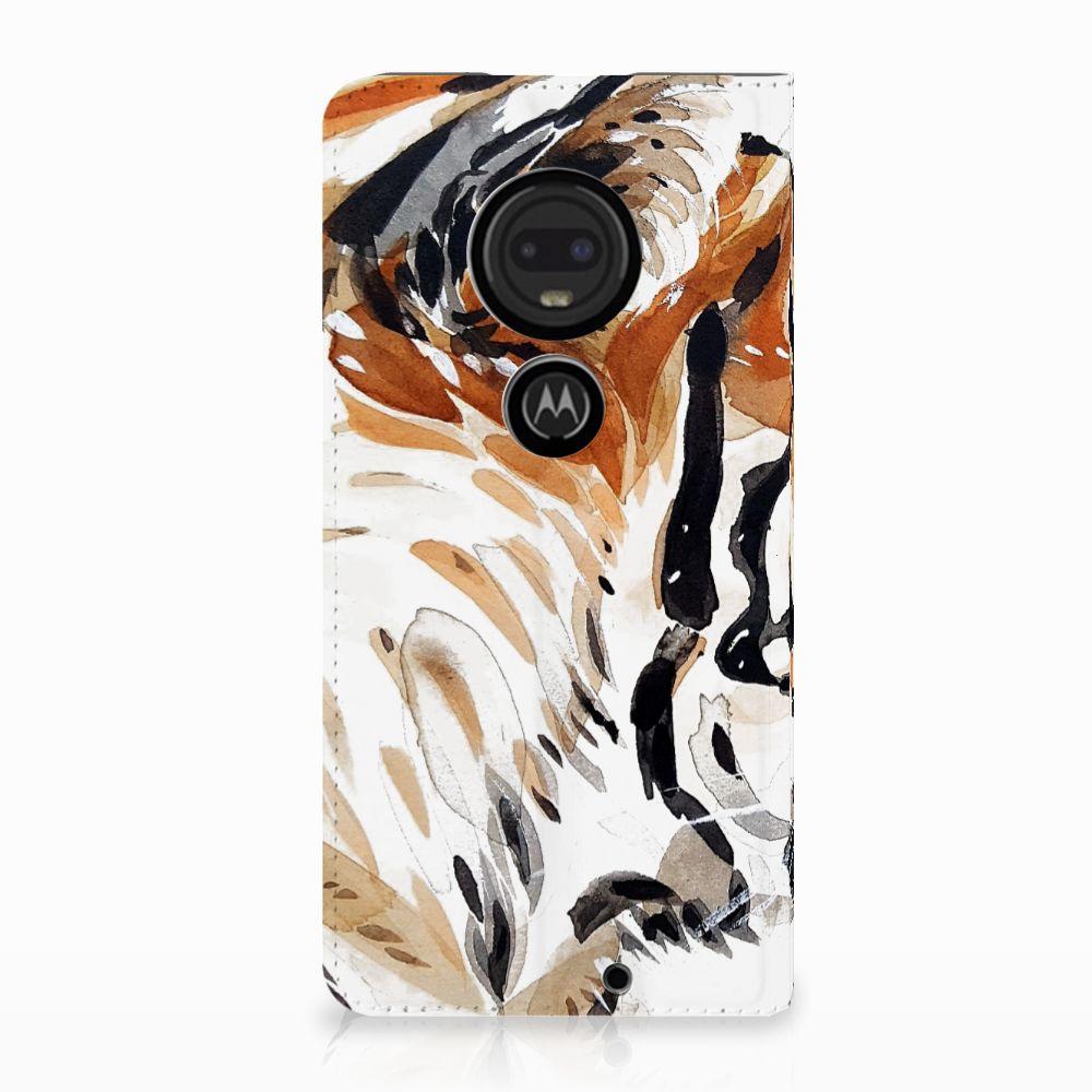 Motorola Moto G7 | G7 Plus Uniek Standcase Hoesje Watercolor Tiger