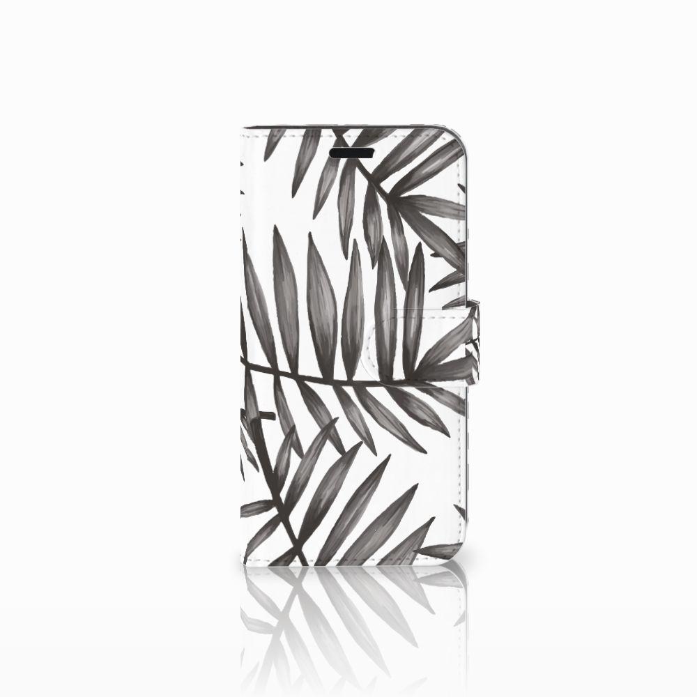 Huawei Nova Uniek Boekhoesje Leaves Grey