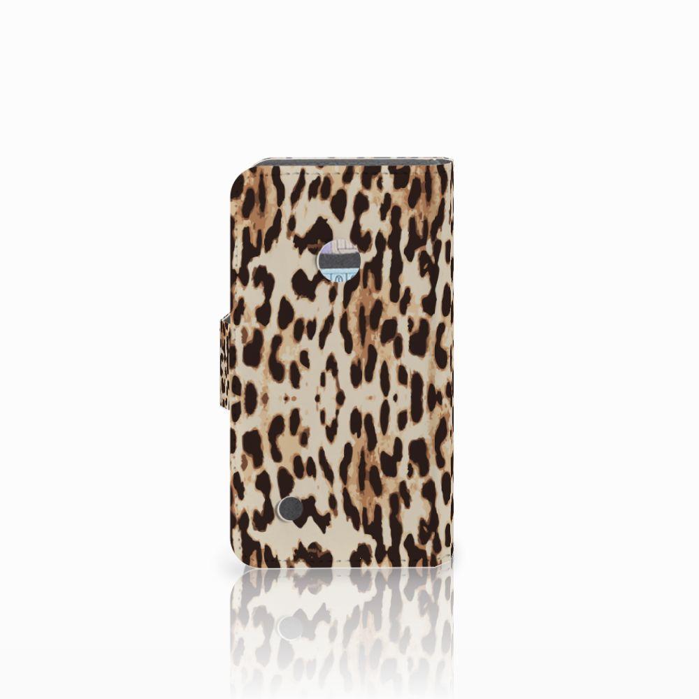 Nokia Lumia 530 Telefoonhoesje met Pasjes Leopard