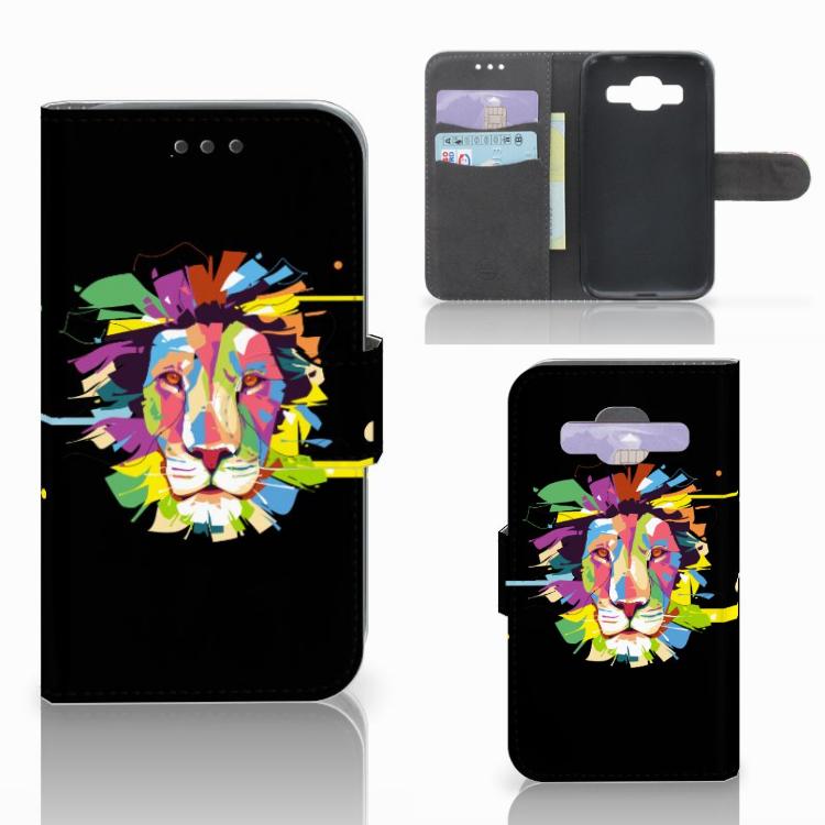 Samsung Galaxy Core Prime Leuk Hoesje Lion Color