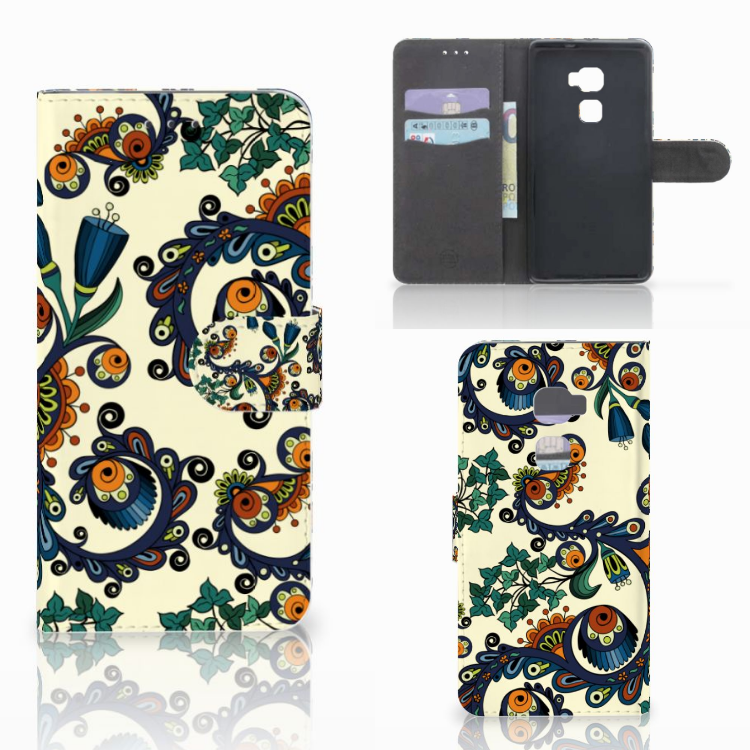 Wallet Case Huawei Mate S Barok Flower