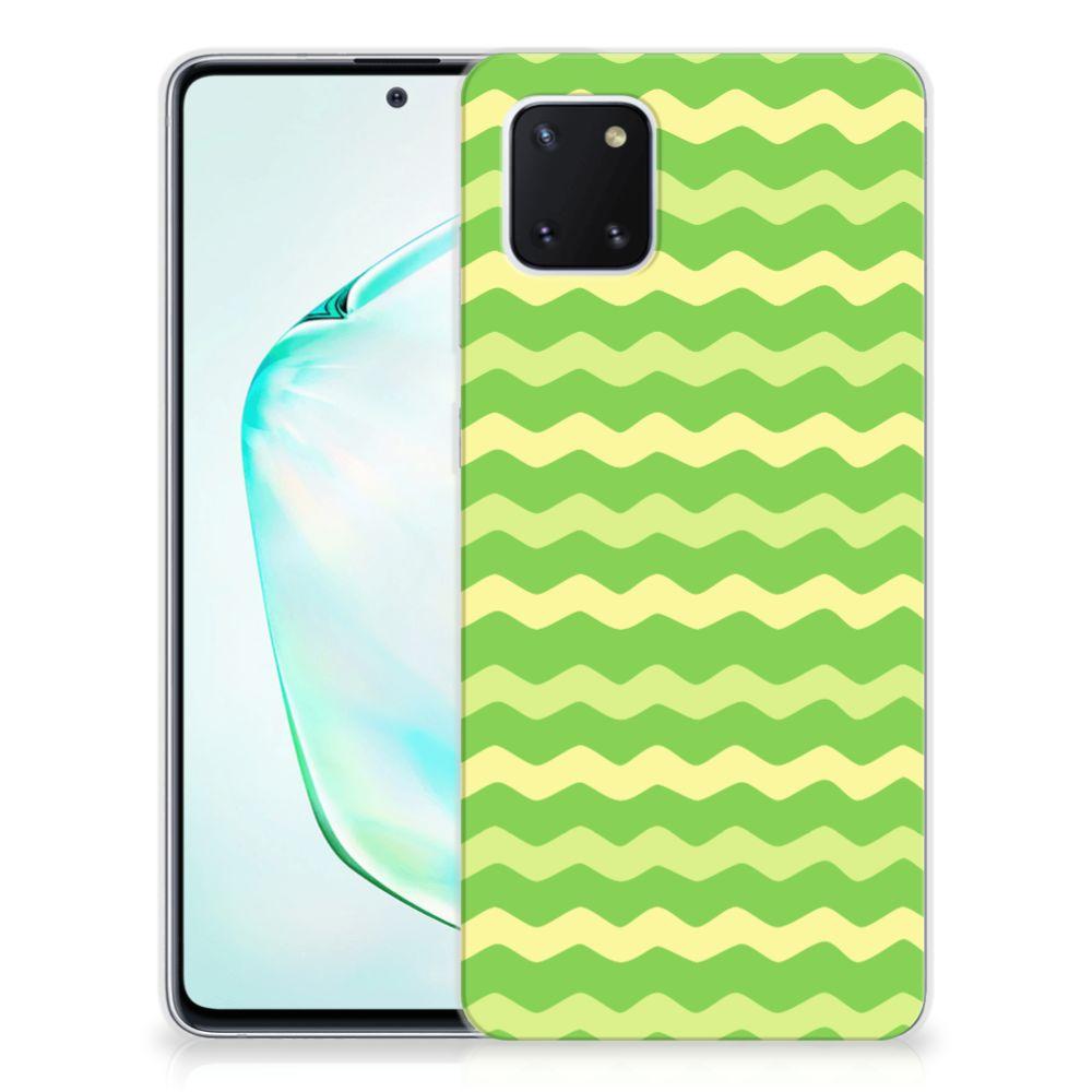 Samsung Galaxy Note 10 Lite TPU bumper Waves Green