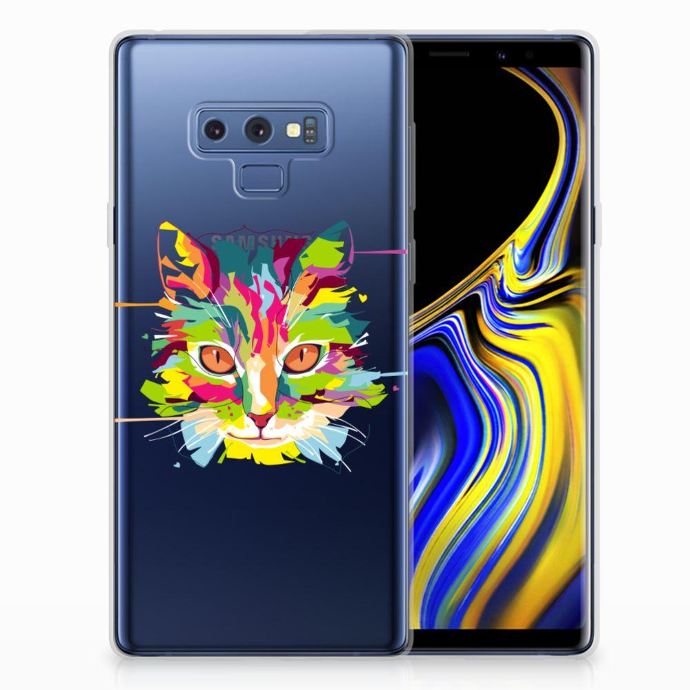 Samsung Galaxy Note 9 Telefoonhoesje met Naam Cat Color